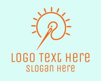 Needlework - Needle Stork logo design