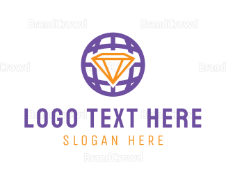Globe - Diamond Globe logo design