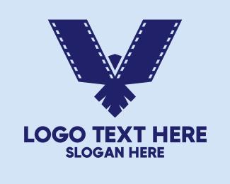 Falcon - Blue Falcon Film logo design