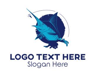 Hook - Marlin Fish logo design
