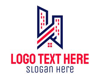 Residence - Urban City Residence logo design
