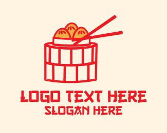 Kung Hei Fat Choy - Asian Cuisine Dimsum  logo design