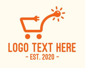 Electrical Supply - Electrical Supplies Shopping Cart logo design
