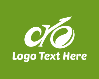 Blue Bike - Abstract Eco Bike logo design