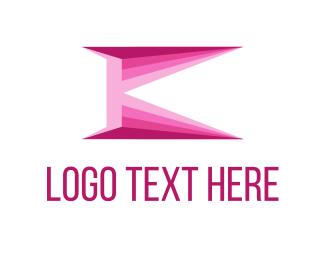 """Pink Letter K"" by alterego"