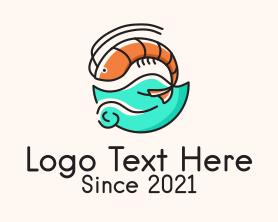 Restaurant - Ocean Seafood Shrimp logo design