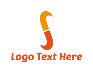 Curve - Orange Letter S logo design
