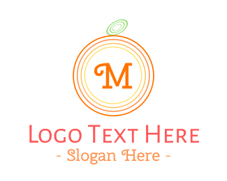 Circular - Orange Lettermark logo design