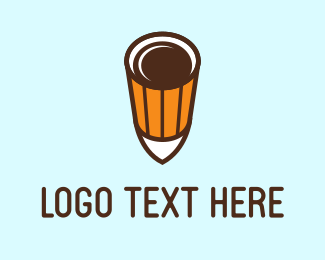 Latte - Coffee Shot logo design