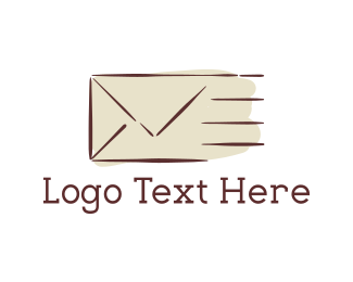 Envelope - Fast Mail logo design