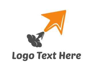 Computing - Click Rocket logo design