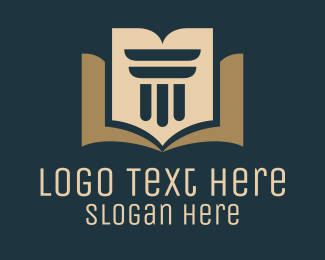 Court House - Law Book logo design