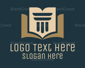 School - Law Book logo design