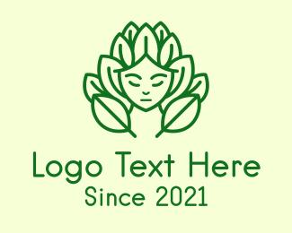 Leaf - Green Nature Deity logo design