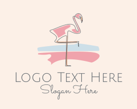 Fancy Flamingo  Logo