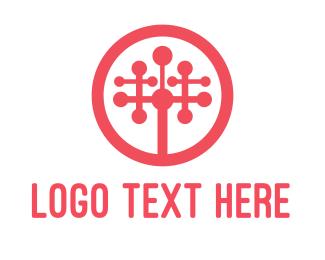 Artificial Intelligence - Tech Startup Tree logo design