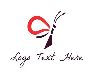 Pest - Minimalist Butterfly logo design