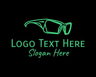 Sunglass - HIpster Wayfarer Sunglasses logo design