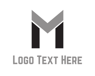 Black And Gray - Abstract Letter M logo design