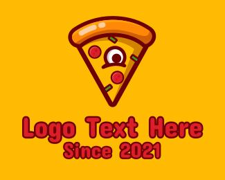 Delicious - Delicious Pizza Monster logo design