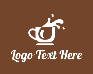 Ice - Coffee Splash logo design