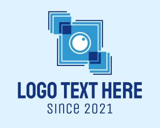 Camera Repair - Blue Box Camera logo design