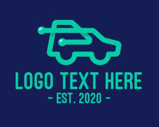 Technology - Green Car Technology logo design
