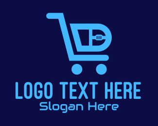 Item - Computer Tech Shopping Cart logo design