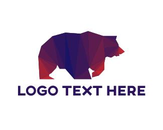 """""""Geometric Grizzly bear"""" by eightyLOGOS"""