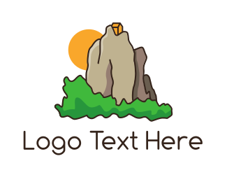 Retreat - House Mountain logo design