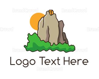 China - House Mountain logo design