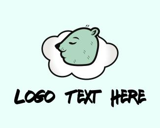 Mattress - Sleeping Bear logo design