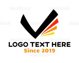 Checklist - Black Letter V logo design