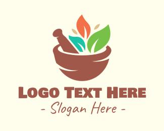 Salad - Organic Salad Bowl logo design