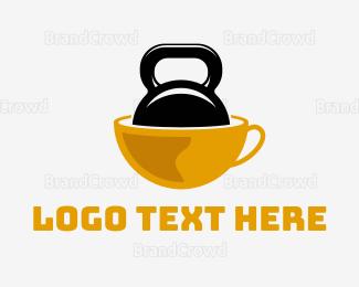 Kettlebell - Strong Coffee logo design