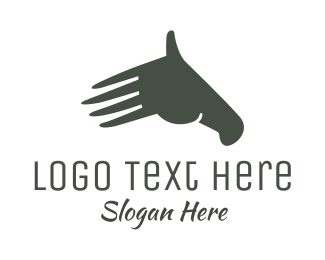 Greeting - Hand Horse logo design