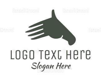 Hand - Hand Horse logo design