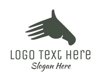 Finger - Hand Horse logo design