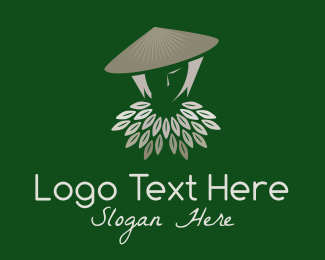 Vietnam - Rice Farmer Woman logo design
