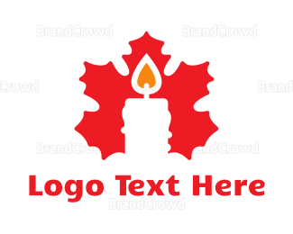 Canadian - Red Canadian Candle  logo design