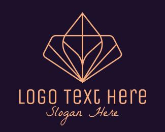 Classy - Pink Classy Geometric Leaf Hotel  logo design