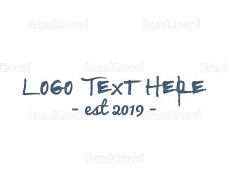 Graffiti - Rustic Handwritten Font logo design