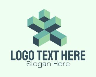 Cubic - Technology Building Blocks logo design