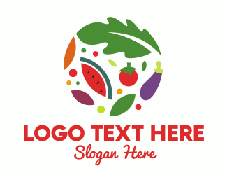 Eggplant - Salad Food Restaurant logo design