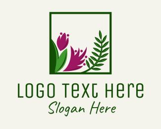 Frond - Natural Flower Fern  logo design