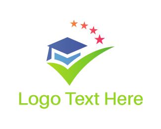 Phd - Graduation Hat logo design