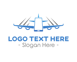 Traveling - Fly Airplane Mode logo design