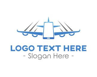 Traveller - Fly Airplane Mode logo design