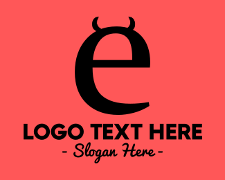 Demon - Evil Letter E logo design