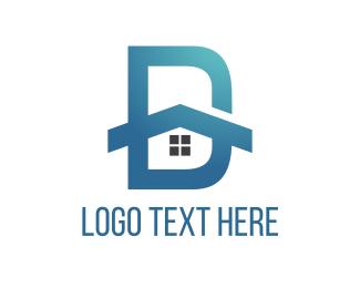 Detroit - House Letter D logo design